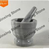Marble Natural Stone Mortar and Pestle Stone Kitchen Grinding Tool Marble Kitchenware Manufactures