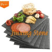 Buy cheap Black Slate Cheese Tray Wine Party Biscuit Serving Board Natural Stone Dinner Tablemat from wholesalers