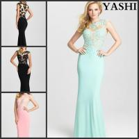 Chiffon Cocktail Gowns Lace Colorful Party Prom Evening Dress Mj6428 Manufactures