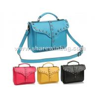 stud leather cambridge satchel bag
