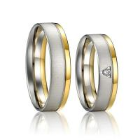 8mm Latest Lady Stainless Steel Promise Ring Simple Gold Ring Design for Couples