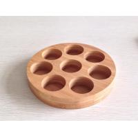8 Holes Bamboo Round Tray Manufactures