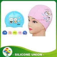 China Custom baby silicone swimming caps on sale