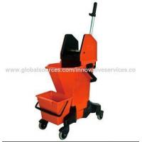 Commercial Double-bucket Combo Car with Down Press Wringer Manufactures