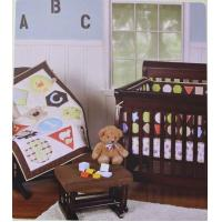 China ABC Alphabet Letters And Geometric Design Unisex Baby Crib Bedding Set on sale