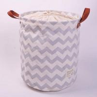 100% Natural Canvas ECO Friendly Collapsible Foldable Laundry Baskets Manufactures