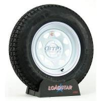 Trailer Tire ST205/75D15 Bias Ply on White Painted Wheel 5 Lug by Loadstar Manufactures