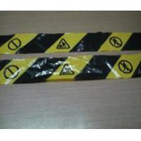 Cheap Warning tape yellow&black tape for sale