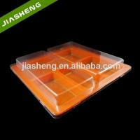 Disposable 4 Sections Plastic Tray with Clear Lid for Fast Food Manufactures