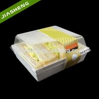 Plastic Rectangular Food Containers/Serving Trays with Clear Lid for Sandwich Takeaway Manufactures