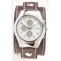 Mens Watches Classic Chrono Watch - Chocolate & White Manufactures