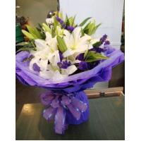 Birthday 6 stem lilies with statice delivery NO.1 birthday gift to austr Manufactures