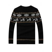 China Men's Sweater Black Snowflake & Reindeer Christmas Fashion Mens Sweater on sale
