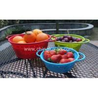 Kitchen Collapsible Silicone Colander Strainer Manufactures