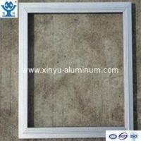 Silver anodized matt extruded aluminum LED panel frame