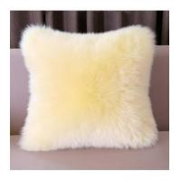 Cushion China Supplier Colorized Real Mink Fur Decorative Pillow Manufactures