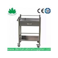 Mobile Dental Cabinet Quality Stainless Steel Medical Trolly Dental Cart SSU-07 Manufactures