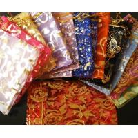 Mixed Colorful 4.7x6.6inch(12x17cm) Organza Bag Pouch for Gift Jewelry with Printed Pattern