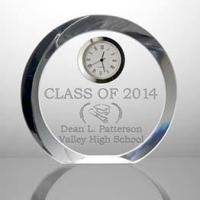 Table Clock Personalized high school students graduation souvenirs crystal clock for bj9464