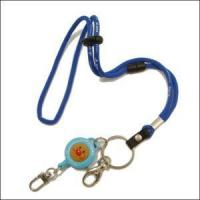 Wholesales China Round Jacquard Cord Lanyard with Cartoon Retractable Reels Manufactures