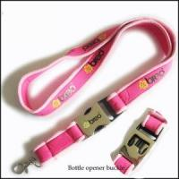 Comfortable Serging Stitch Neoprene Lanyards with Custom Quick Buckle Manufactures
