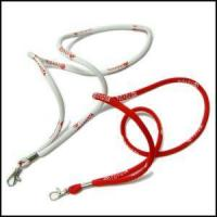Round High Elastic Cord Woven Logo Lanyards Manufactures