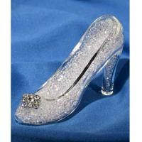 Crystal World GLASS HIGH HEEL SHOE - MED