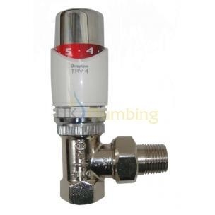"Quality Heating Controls Drayton TRV4 1/2"" Angle Thermostatic Radiator Valve for sale"