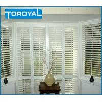 Buy cheap Seaview Room Lead Free Security Window Blinds Interior Residential Shutters Bay PVC Window Shutters from wholesalers