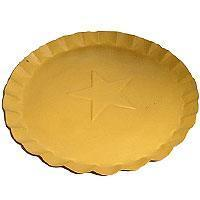 Buy cheap 7.5 Inch Tin Plates With Scalloped Edge Yellow from wholesalers