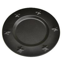 Buy cheap Tin Charger Plates 6 Inch Black from wholesalers