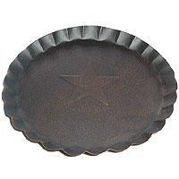 Buy cheap 7.5 Inch Tin Plates With Scalloped Edge Gray from wholesalers