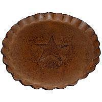 Buy cheap 7.5 Inch Tin Plates With Scalloped Edge Rust from wholesalers