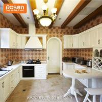 Modern Wooden New Country Style Hand Painted Solid Dark Oak Kitchen Beautiful Kitchen Cabinets Manufactures