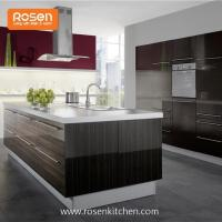 Build in New Painting High Gloss Wood Grain Formica Laminate Kitchen Cupboards Cabinets Manufactures