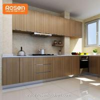 Buy cheap Outdoor Wood Grain Powder Coat Handless Stainless Steel Commercial Kitchen Cabinets without Handle from wholesalers