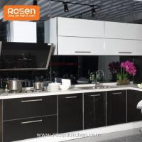 Buy cheap High Gloss Black Stainless Steel Metal Carcase Kitchen Cabinets from wholesalers