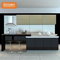 Buy cheap Luxury Black Whole Home Kitchen Cabinets with Glass Doors from wholesalers