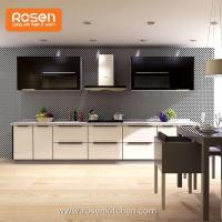 Buy cheap Prefinished Hanging Upper Kitchen with Glass Front Cabinet Doors from wholesalers