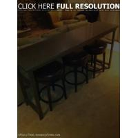 DIY Bar Table Behind Couch