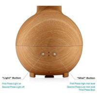 Wood Grain Essential Oil Diffuser with LED lights Manufactures