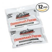 Fisherman's friend original extra strong cough suppressant lozenges, 40-count bags (pack of 12) Manufactures