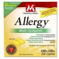 Member's mark - allergy multi-symptom, 200 caplets (compare to tylenol allergy) Manufactures
