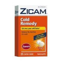 Zicam cold remedy zavors coated chews, cherry, 25-count box Manufactures