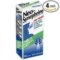 Neo-synephrine nasal spray, mild formula, .5-ounce bottles (pack of 4) Manufactures