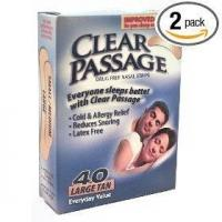 Clear passage drug free tan large nasal strips, 40 count boxes (pack of 2) Manufactures
