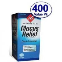 Member's mark - mucus relief, guaifenesin 400 mg, expectorant, 400 tablets (compare to mucinex) Manufactures