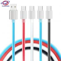 High Light Aluminium Alloy Shell Type C Cell Phone Cables with TPE Jelly Line Manufactures