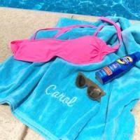 Monogrammed Beach Towels - Turquoise Manufactures
