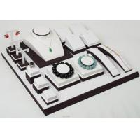 White Leather Jewelry Showcase Display Sets Different Size For Jewelry Display